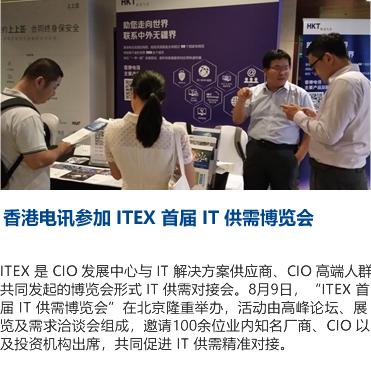 香港电讯参加 ITEX 首届 IT 供需博览会